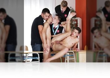 Monday, December 8th: Sam Williams Conducts The Best School Lesson Ever â�' Topped Off With Oodles Of Hot Teen Jizz! HD