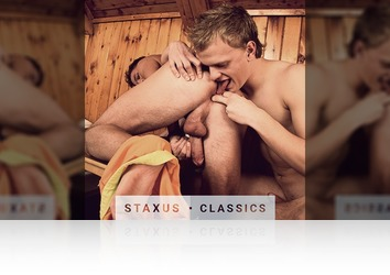 Saturday, July 16th: Staxus Classic: Bareback Frat Pack - Scene 2 - Remastered in HD