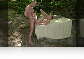 Tuesday, October 1st: Young Blond Twink Gets A Hard, Open-Air Fucking & Hot, Sticky Facial