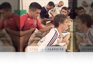 Tuesday, January 24th: Staxus Classic: World Soccer Orgy 2 - Scene 2 - Remastered in HD