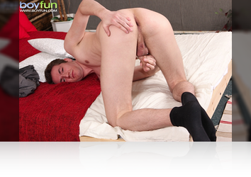 Sunday, July 6th:  Thomas spreads it wide and jerks himself off! from BoyFun
