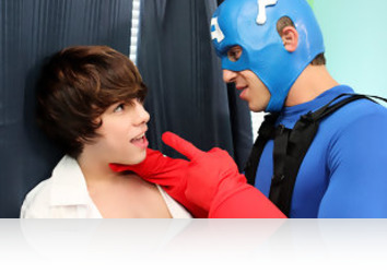Friday, August 9th: Handsome and studly young newbie Austin Ried is back in front of the cameras for this super hero role as he confronts bad boy Kyler Moss. He needs some information, but he soon discovers that the only way he's gonna get it is if he gives the horny lad what he needs. Kyler gets his ass rimmed and then sucks on the hero's hard cock before bending over to get an awesome fucking!