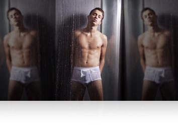 Friday, February 2nd: Jesse taking hot shower