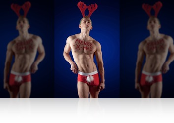 Friday, December 22nd: Ingo blond athletic christmas twink