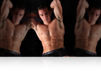 Friday, October 13th: Marc fitness model posing for us