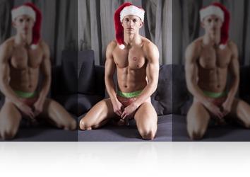 Wednesday, December 13th: Vincent muscular Santa!