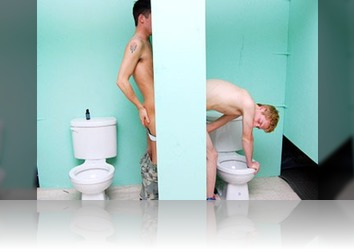 Sunday, May 29th: Mouth Watering Glory Hole Scene Featuring Two Handsome Twinks With Extra Huge Boners