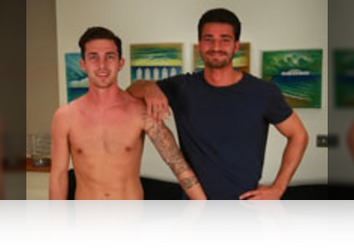 Saturday, January 6th: Sam Hansworth, James Welbeck - Bonus Video of Sam Hansworth's and James Wellbeck's Photo Shoot - Straight Footballer sucks his 1st Cock!