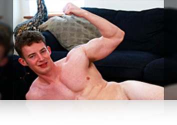 Friday, September 1st: Tom Sutcliffe - Bonus Video of Tom's Photo Shoot - Muscular Straight Lad Shows Us 9-inch Cock!