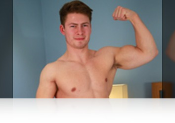 Thursday, January 26th: Oli Lennox - Straight Horny Rugby Hunk Oli Shows off his Big Muscles and Big Uncut Cock amd Cums Everywhere!