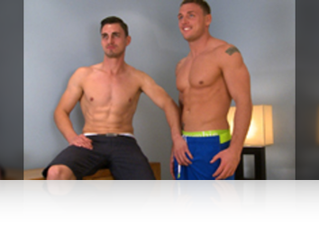 Monday, Oct 5th: Straight lad Sam has been looking forward to being fucked by a muscular lad and today his dreams come through. You can spot the way he looks at Tyler that he is admiring his body and judging by the head he gives Tyler he is more than willing to service this former royal marine in exchange for a good fucking! Sam does a great job at blowing Tyler and he returns the favour by lubing up Sam's hole and slamming in his cock. Tyler is feeling real energetic today and he gives Sam's hole a right good seeing to and when sitting down on Tyler he gets a real energetic fucking. All this action and Sam is getting it in spoons, just look at how his cum flys! Two straight lads knowing how to pleasure each other! from Englishlads