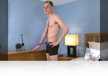 Thursday, Jul 19th: Luke McCormick - Bonus Video of Luke McCormick's Phoot Shoot - Straight Footballer Pumps his Hole with a Big Dildo! from Englishlads