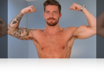 Friday, August 31st: Hudson Scott - Straight Hunk Hudson Scott Shows his Ripped Body and Wanks his Big Cock and Fires Cum!