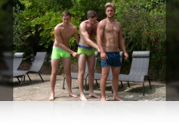 Wednesday, August 15th: Aaron Janes, Andrew Hayden, Joel Jenkins - Bonus Video of Aaron, Andrew and Joel's Photo Shoot - 3 Straight Lads in the Sunshine!