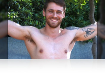Friday, August 11th: Travis Clemence - Young Rugby Stud Travis Shows his Ripped Body, Big Uncut Cock and Shoots Loads of Cum!