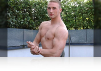 Friday, July 6th: David Kolar - Young & Muscular Personal Trainer David Kolar Shows his Big Uncut Cock & Squirts Big!